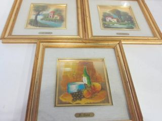 FRAMED ART BY l  CURTI AND F  SOlNI   11 X 11