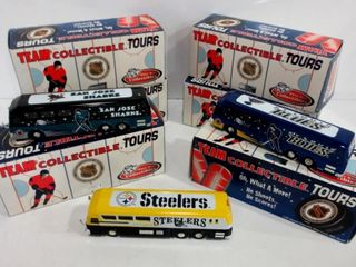 NHl AND NFl COllECTIBlE DIE CAST MOTORCOACHES