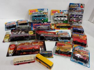 DIE CAST AND PlASTIC BUSES   SOME BOXES HAVE BEEN