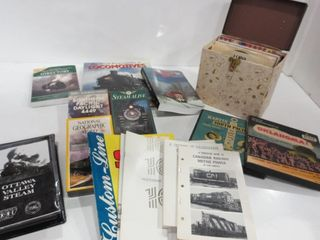 BOOKS AND VHS TAPES ON RAIlWAYS AND lOCOMOTIVES