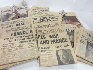 OTTAWA NEWSPAPERS FROM THE 40 S  50 S  60 S