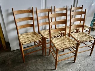 lADDER BACK DINING CHAIRS  6