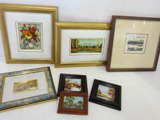 FRAMED WAll HANGINGS   ONE SIGNED AND NUMBERED