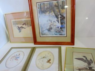PRINTS OF BIRDS   SOME M G  lOATES