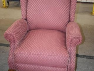 DIAMOND PATTERN RED WING BACK ARM CHAIR
