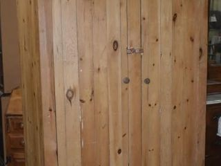 WOOD TEXTIlE CUPBOARD FROM PARIS  ONTARIO