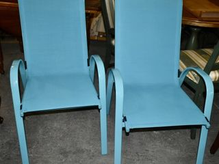 OUTDOOR PATIO CHAIRS  BlUE  2
