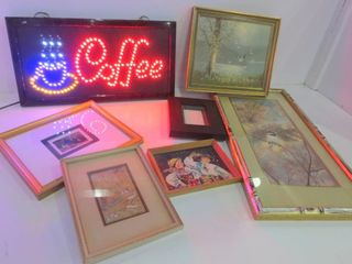 ASSORTED PRINTS  lIGHT UP COFFEE SIGN