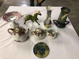 Vases  Tea set