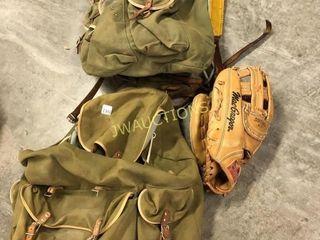 Canvas Backpacks  left Handed Ball Glove