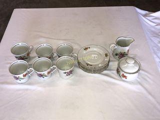 Tea Cups  Plates  Cream and Sugar