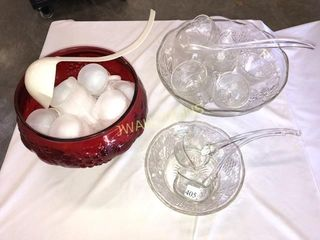 Punch Bowls and Glasses