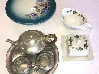 Tea  Cream  Sugar  Cheese Plate