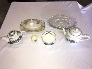 Cheese Plate  Tea Pots