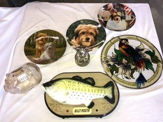 Collector Plates  Stained Glass  piggy bank