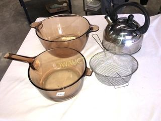 Glass Cook Wear  Sifter  Kettle