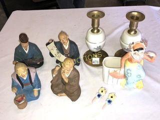 Figurines  Candle Sticks