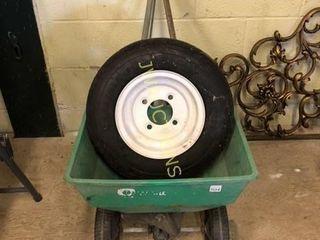 Trailer Tire 4 80 8  lawn Fertilizer cart