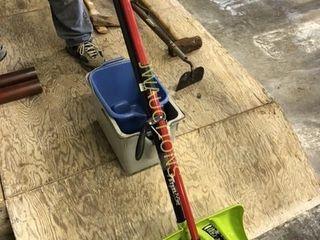 Snow shovel  Mop  Pails