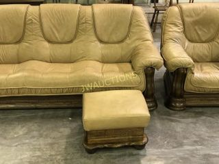 leather  Couch  Chair  Ottoman