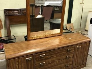 Dersser with Mirrow  Head Board and Frame