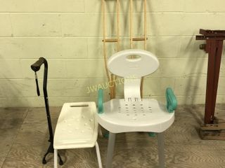 Shower Chairs and Crutches  cain
