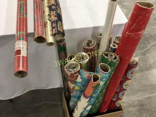 X Mas Wrapping Paper  19 rolls