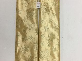 2 PIECES HOlIDAY TIME 48 TREE SKIRT GOlD