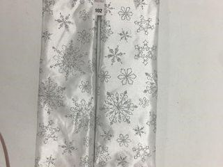 2 PIECES HOlIDAY TIME 48 TREE SKIRT SIlVER