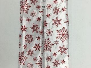2 PIECES HOlIDAY TIME 48 TREE SKIRT WHITE RED