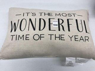 HOlIDAY TIME TYPOGRAPHY CUSHION SIZE 20  X 13