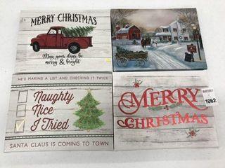 ASSORTED HOlIDAY TIME CHRISTMAS WAll DECOR