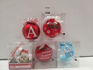5 PCS CHRISTMAS ORNAMENTS