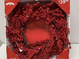 HOlIDAY TIME WREATH SIZE 24 IN