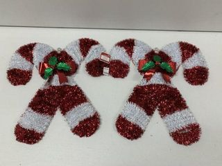 2 PCS HOlIDAY TIME TINSEl WREATH SIZE 18 IN