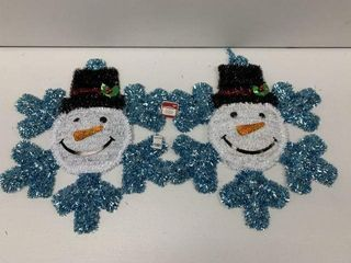 2 PCS HOlIDAY TIME SNOWMAN