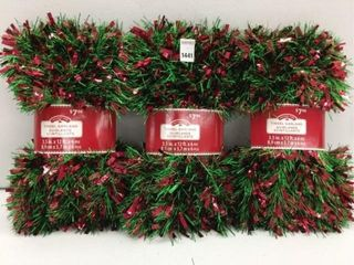 3 PIECES HOlIDAY TIME RED GREEN GARlAND