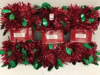 3 PIECES HOlIDAY TIME GREEN HOllY lEAF