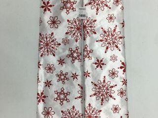 2 PIECES HOlIDAY TIME 48 INCH TREE SKIRT WHITE RED