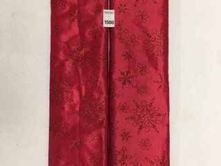 2 PIECES HOlIDAY TIME 48 INCH TREE SKIRT RED