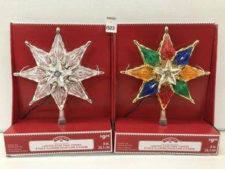 ASSORTED HOlIDAY TIME lIGHTED STAR TREE TOPPER