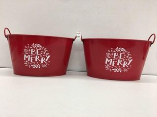 2 PIECES BE MERRY OVAl TUB