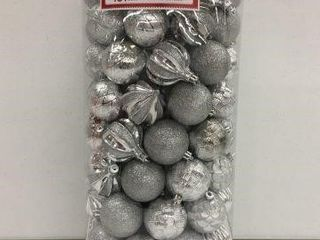 101 PCS HOlIDAY TIME SHATTERPROOF ORNAMENTS SIlVER