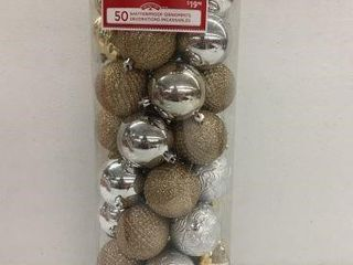 50 PIECES HOlIDAY TIME SHATTERPROOF ORNAMENTS