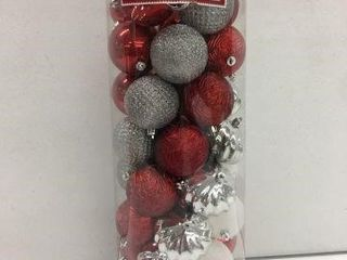 50 HOlIDAY TIME SHATTERPROOF ORNAMENTS