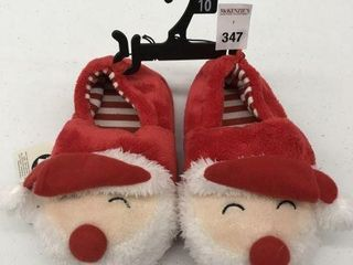 GEORGE KID S CHRISTMAS SlIPPERS SIZE 9 10