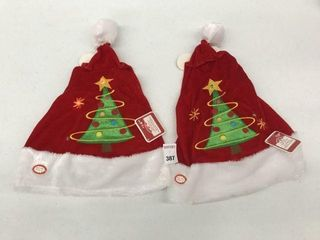 2PCS HOlIDAY TIME MUSICAl lIGHT UP HAT