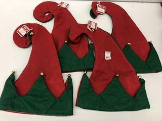 4PCS HOlIDAY TIME FElT JESTER HAT WITH JINGlE BEll