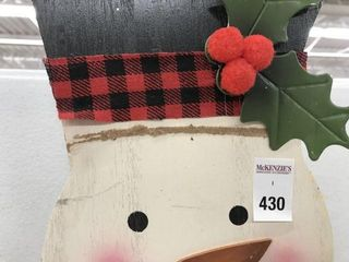 CHRISTMAS DECORATIVE SIGN  MISSING PART