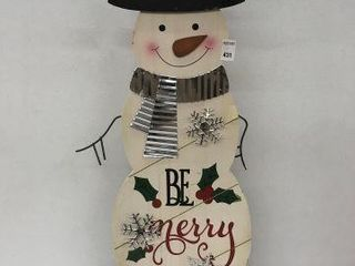 CHRISTMAS DECORATIVE SIGN  WITH CRACK